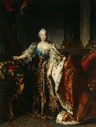 Louis Tocque Portrait of Empress Elizabeth Petrovna oil on canvas